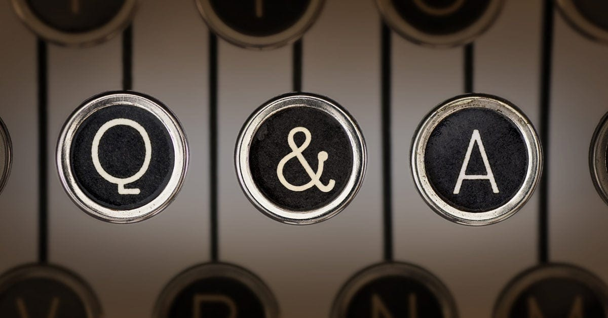 Q & A typewriter keys