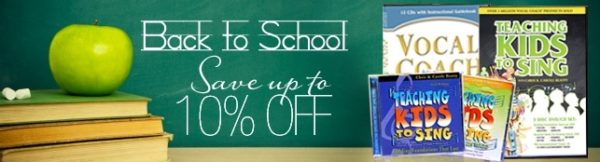 Vocal Coach Back To School Sale