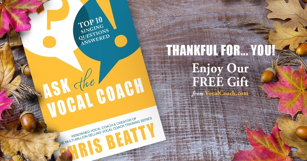 Thank you for Being a Part of Vocal Coach
